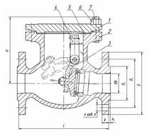 Затворы обратные (клапаны обратные поворотные)