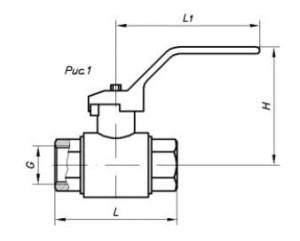 Кран шаровый муфтовый с трубной цилиндрической резьбой по ГОСТ 6357-81