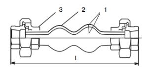 Гибкие вставки (виброкомпенсаторы) муфтовые FC6, DN 15-50